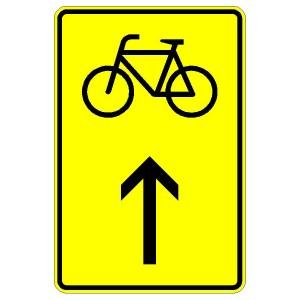 Verkehrszeichen (442-30)-  StVO Vorwegweiser für Fahrradfahrer (geradeausweisend)