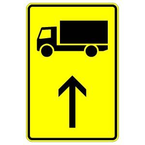 Verkehrszeichen (442-31)-  StVO Vorwegweiser für Lastkraftwagen (geradeausweisend)