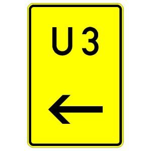 Verkehrszeichen (455-11)-  StVO Nummerierte Umleitung (links vorbei)