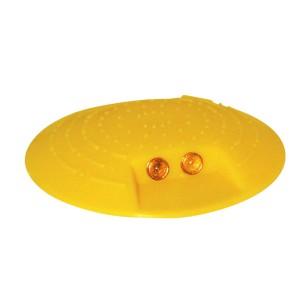 Markierungsknopf Ø 120 mm,gelb, zum Aufkleben