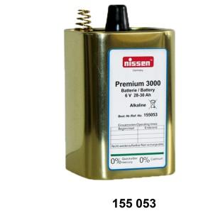 Trockenbatterie Premium 3000, 6 V, 28 - 30 Ah