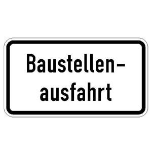 Verkehrszeichen (1006-33) - StVO Baustellenausfahrt