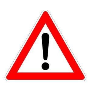 Verkehrszeichen (101) -StVO Gefahrstelle