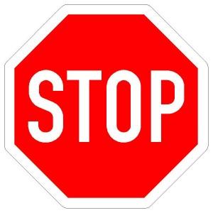 Verkehrszeichen206 - StVO Halt! Vorfahrt gewähren