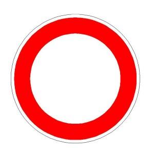 Verkehrszeichen (250) -  StVO Verbot für Fahrzeuge aller Art