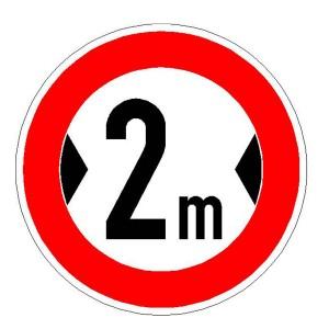 Verkehrszeichen (264) - StVO Verbot für Fahrzeuge über angegebene Breite einschließlich Ladung