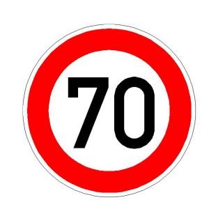 Verkehrszeichen (274) - StVO  Zulässige Höchstgeschwindigkeit