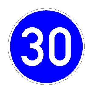 Verkehrszeichen 275 - StVO Vorgeschriebene Mindestgeschindigkeit