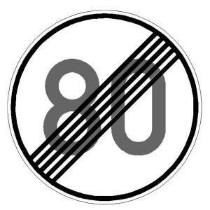 Verkehrszeichen (278) - StVO Ende der zulässigen Höchstgeschwindigkeit