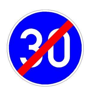 Verkehrszeichen 279 - StVO Ende der vorgeschriebenen Mindestgeschwindigkeit