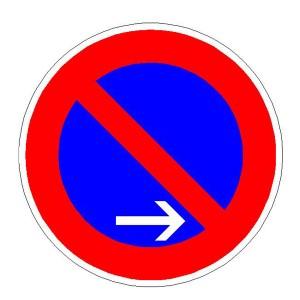 Verkehrszeichen (286-10) -  StVO Eingeschränktes Haltverbot- Anfang -, - Ende -