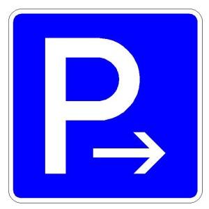 Verkehrszeichen (314-20) - StVO Parkplatz (Ende)