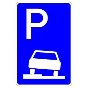 Verkehrszeichen (315-50) - StVO Parken auf Gehwegen