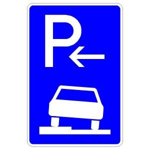 Verkehrszeichen (315-52) - StVO Parken auf Gehwegen (Ende)