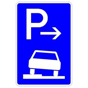 Verkehrszeichen (315-51) - StVO Parken auf Gehwegen (Anfang)