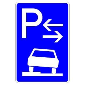 Verkehrszeichen (315-53) - StVO Parken auf Gehwegen (Mitte)
