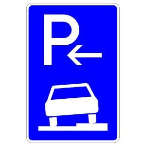 Verkehrszeichen (315-56) - StVO Parken auf Gehwegen (Anfang)