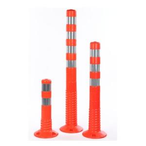 FLEXIBLE ABSPERRPFOSTEN Übersicht orange mit reflektierenden Streifen