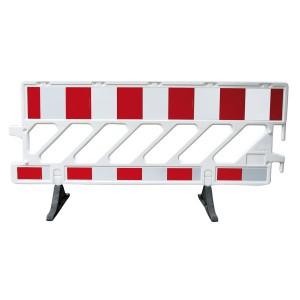 Mobile Absperrschranke aus Kunststoff Folientyp rot/weiß Typ RA2 B