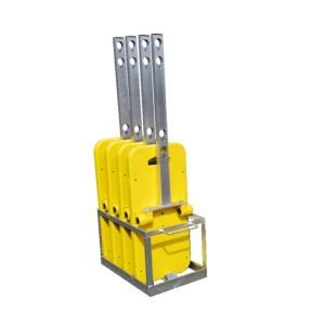 Transport- u. Lagerbox für bis zu 5 Vario Schilderständer voll