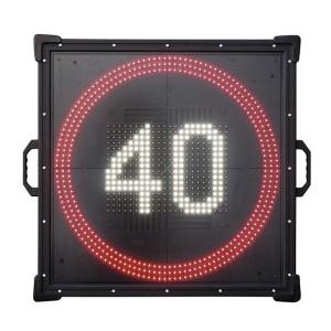 Tragbares LED-Wechselverkehrszeichen SpeedSignSMD