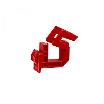 Klemmschelle Typ D, rot, für Alform -1-Schilderprofile